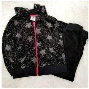 ** Healthtex Black Stars Sweatsuit Outfit